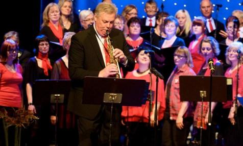 Dirigent Göran med sopransax
