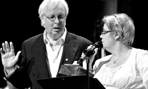 Peter W och dirigenten Susann